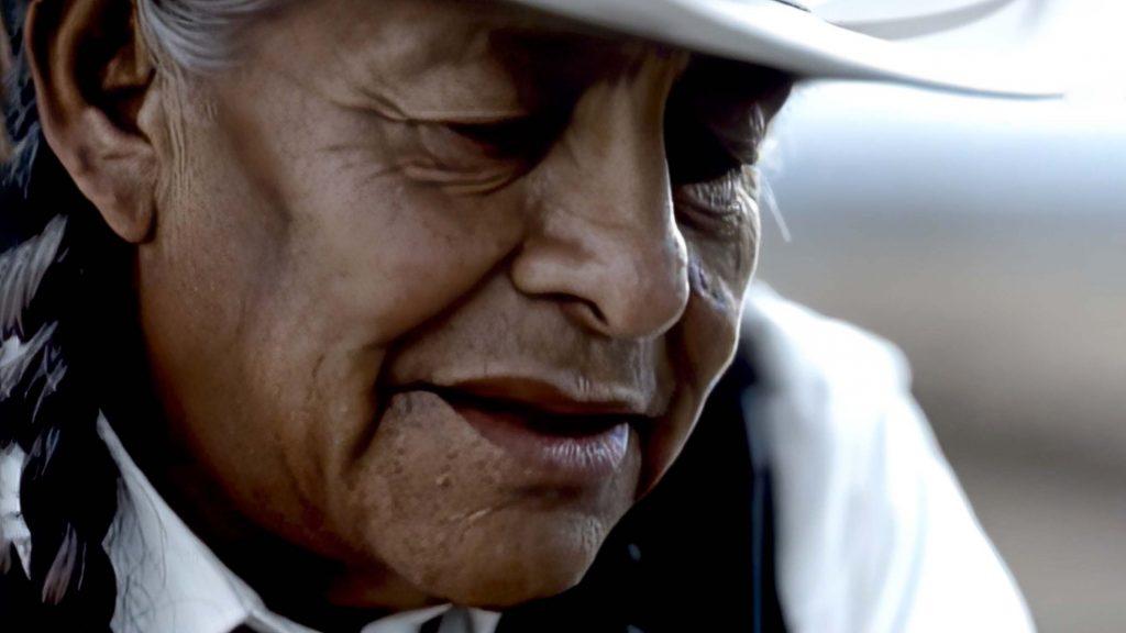 Blackfoot Indian Leader speaking